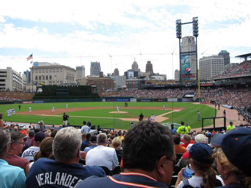 Seating view for Comerica Park Section 130 Row 27 Seat 3
