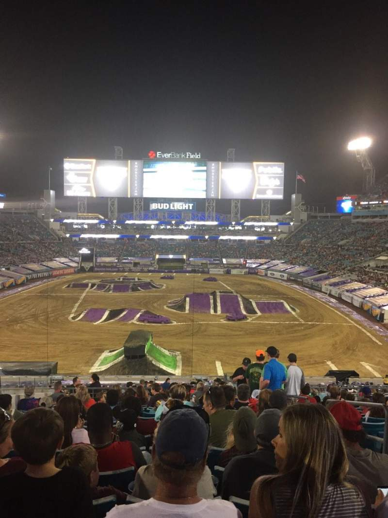 TIAA Bank Field, section: 223, row: Q, seat: 3