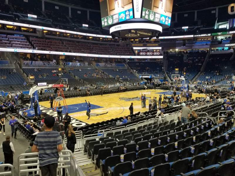Seating view for Amway Center Section 108 Row 13 Seat 8