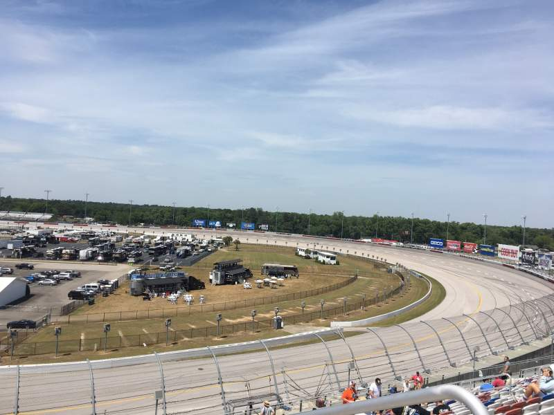 Seating view for Darlington Raceway Section J Row 29 Seat 1