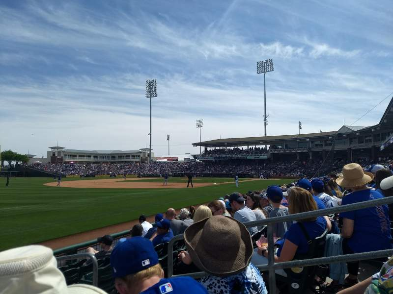 Seating view for Surprise Stadium Section 119 Row G Seat 8