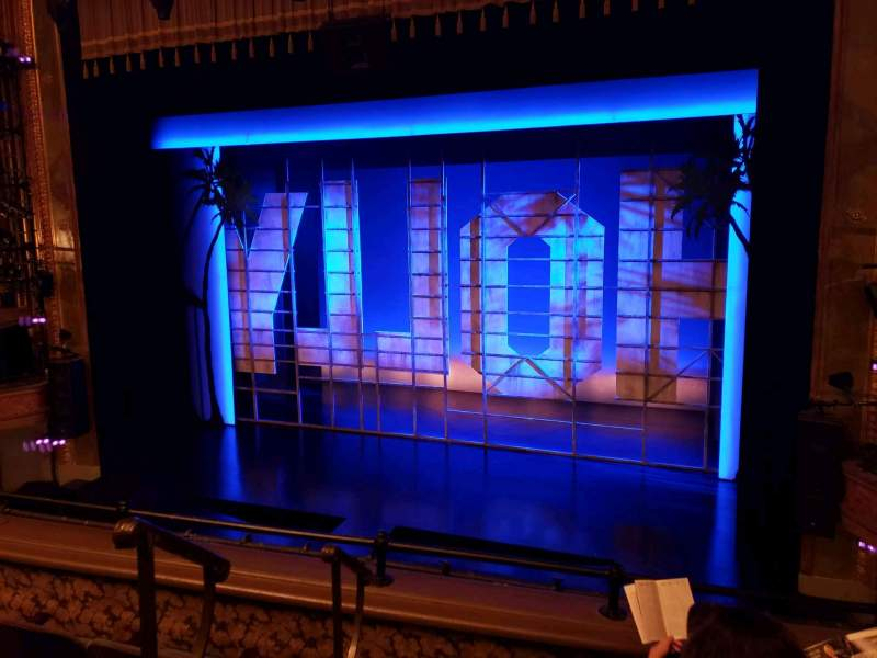 Seating view for Nederlander Theatre Section Mezzanine R Row D Seat 2