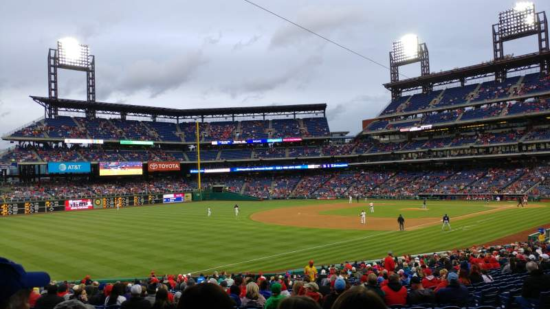 Seating view for Citizens Bank Park Section 137 Row 35 Seat 10