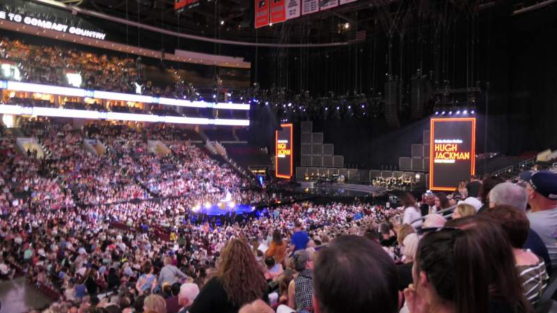 Seating view for Wells Fargo Center Section 111 Row 22 Seat 6