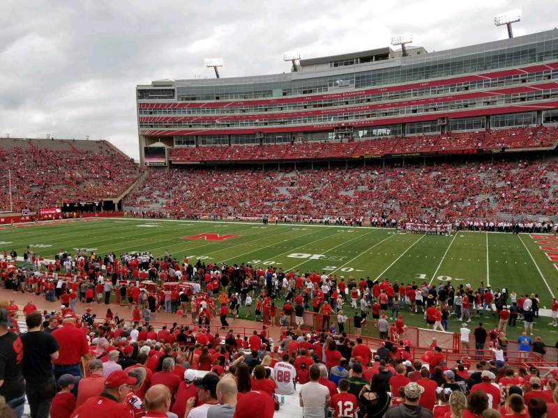 Seating view for Memorial Stadium (Lincoln) Section 2 Row 24 Seat 14