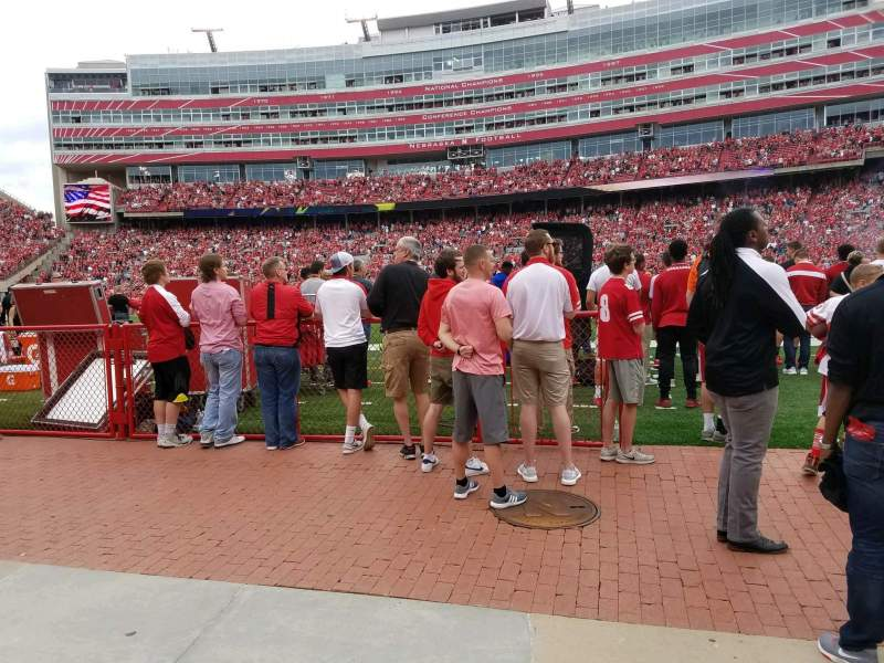 Seating view for Memorial Stadium (Lincoln) Section 3 Row Field Level