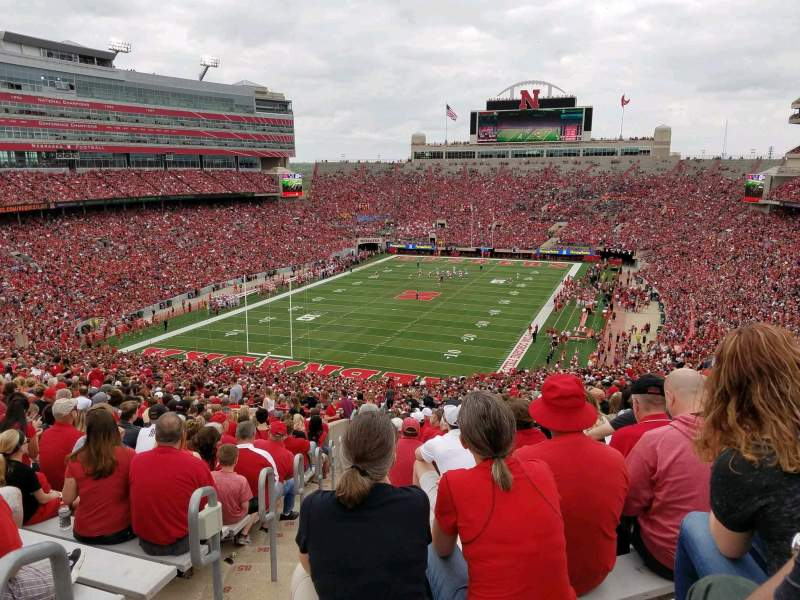 Seating view for Memorial Stadium (Lincoln) Section 14 Row 93 Seat 27