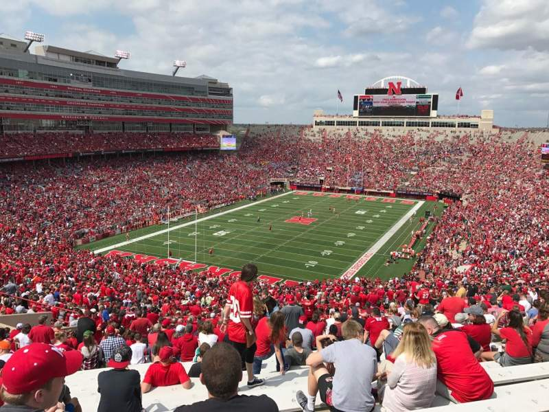 Seating view for Memorial Stadium (Lincoln) Section 14 Row 98 Seat 9