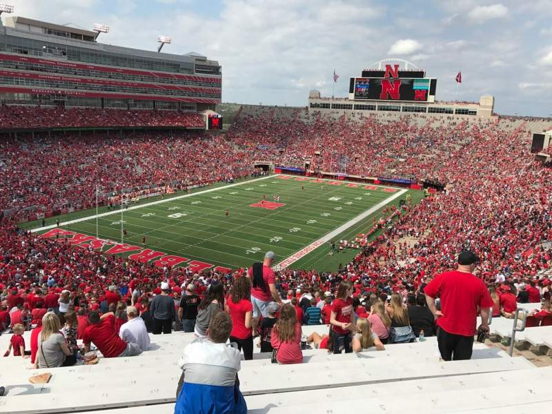 Memorial Stadium (Lincoln), section: 13, row: 98, seat: 6