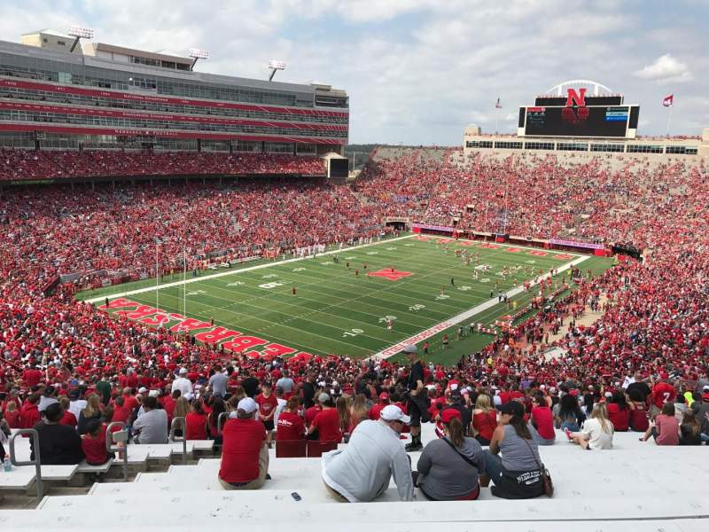 Seating view for Memorial Stadium (Lincoln) Section 12 Row 98 Seat 19