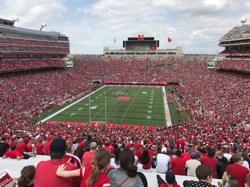 Memorial Stadium (Lincoln), section: 16, row: 98, seat: 12