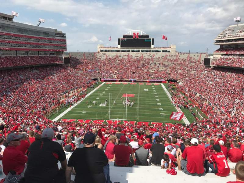 Memorial Stadium (Lincoln), section: 16-b1, row: 98, seat: 10