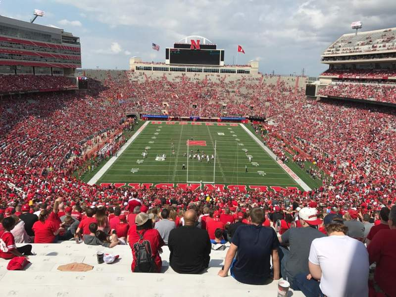 Seating view for Memorial Stadium (Lincoln) Section 16-b2 Row 98 Seat 33