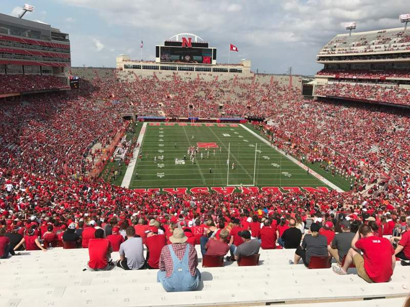 Seating view for Memorial Stadium (Lincoln) Section 16-c Row 98 Seat 8