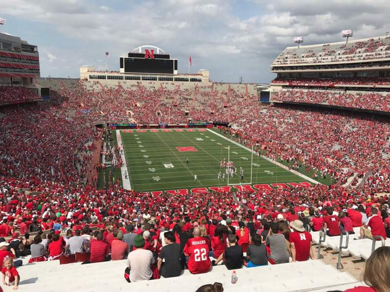 Memorial Stadium (Lincoln), section: 17, row: 98, seat: 5