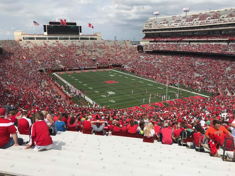 Seating view for Memorial Stadium (Lincoln) Section 19 Row 96 Seat 7