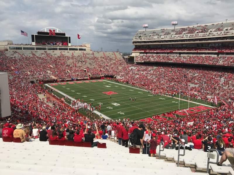 Memorial Stadium (Lincoln), section: 20, row: 96, seat: 7