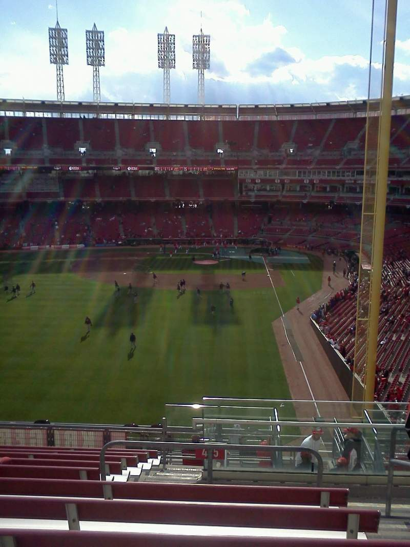 Seating view for Great American Ball Park Section 405 Row q Seat 2