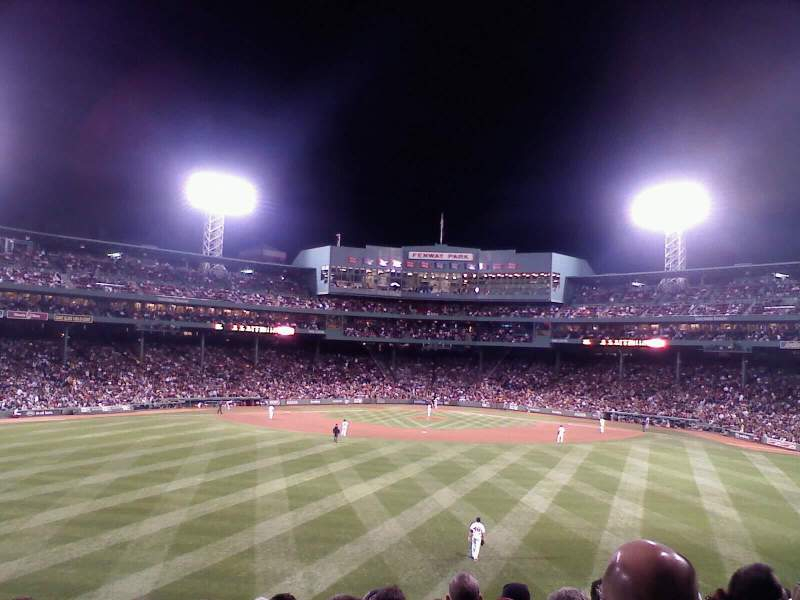 Seating view for Fenway Park Section Bleacher 34 Row 3 Seat 3