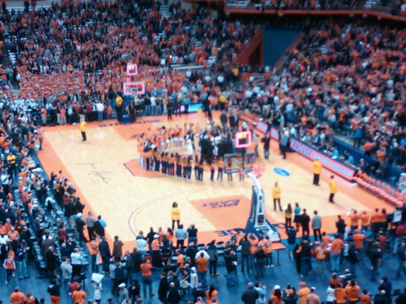Seating view for Carrier Dome Section 313 Row D Seat 6