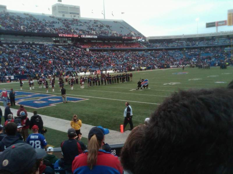 Seating view for Buffalo Bills Stadium Section 140 Row 11 Seat 1