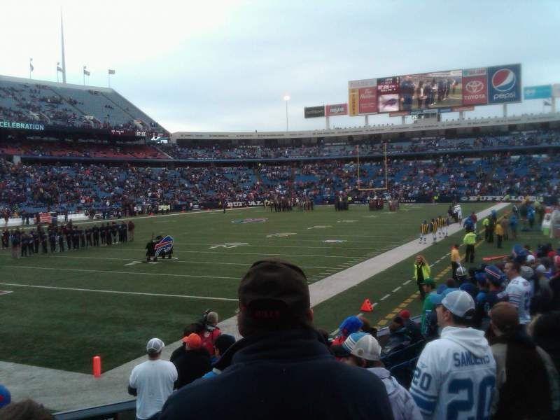 Seating view for New Era Field Section 140 Row 11 Seat 1