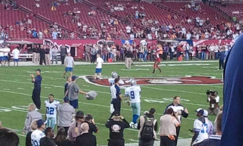 Seating view for Raymond James Stadium Section 132 Row  L Seat  21