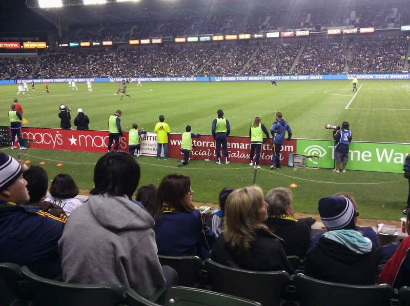 Seating view for StubHub Center Section 108 Row E Seat 12