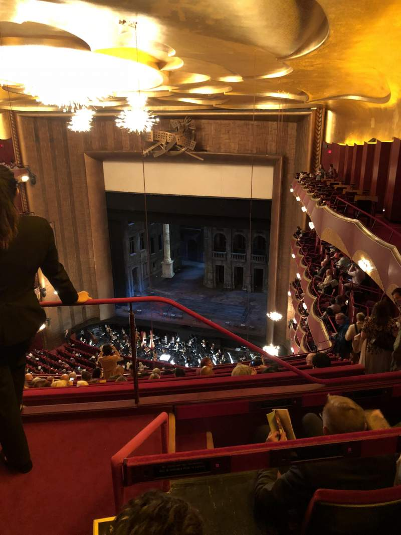 Seating view for Metropolitan Opera House - Lincoln Center Section Family Circle Row C Seat 2