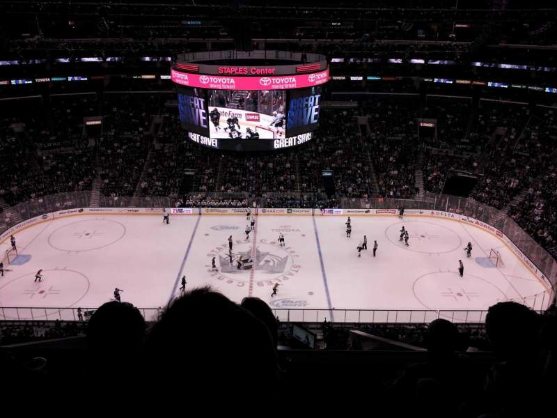 Seating view for Staples Center Section 318 Row 10 Seat 13