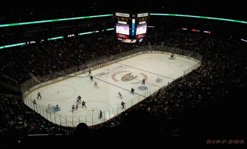 Seating view for Honda Center Section 417 Row S Seat 15