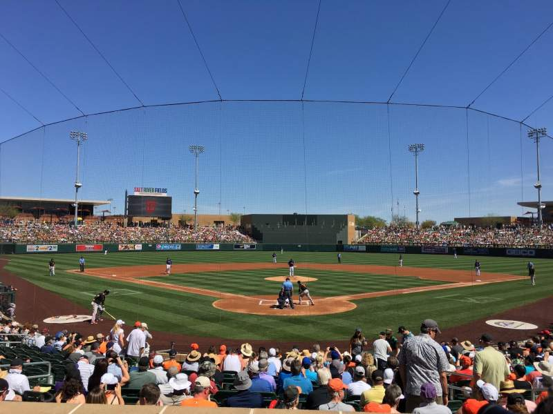 Seating view for Salt River Fields Section 212 Row 3 Seat 8
