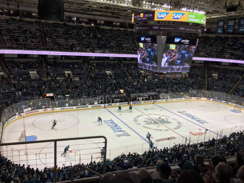 Seating view for SAP Center Section 217 Row 6 Seat 15