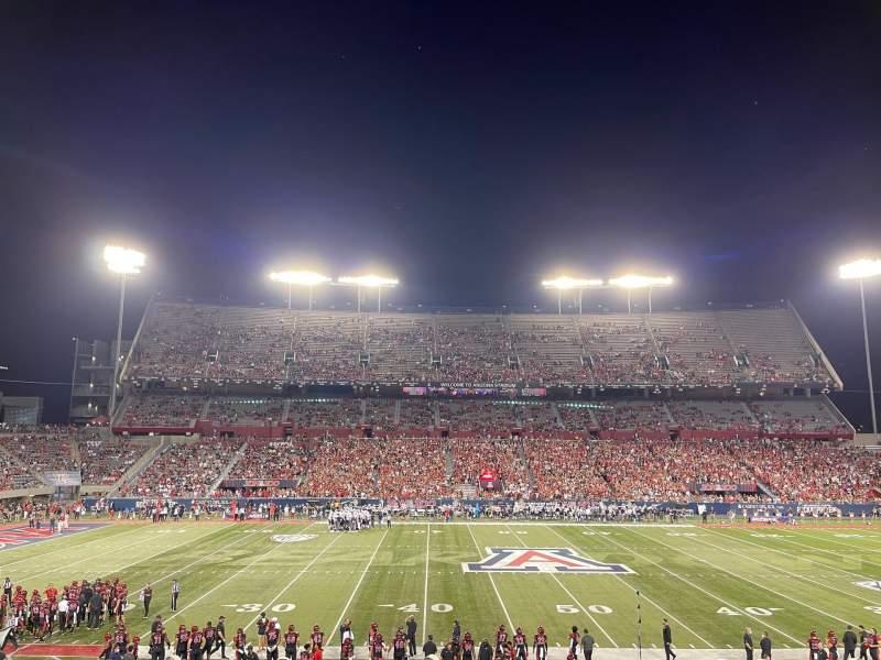 Seating view for Arizona Stadium Section 22 Row 31 Seat 1