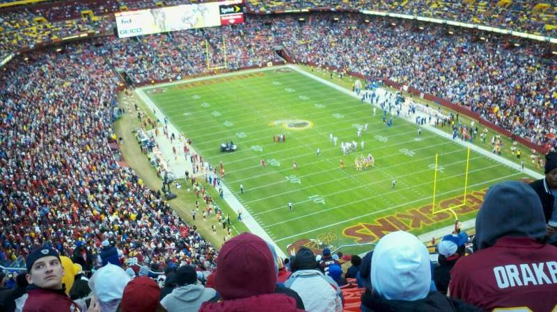 Seating view for FedEx Field Section 446 Row 7 Seat 12