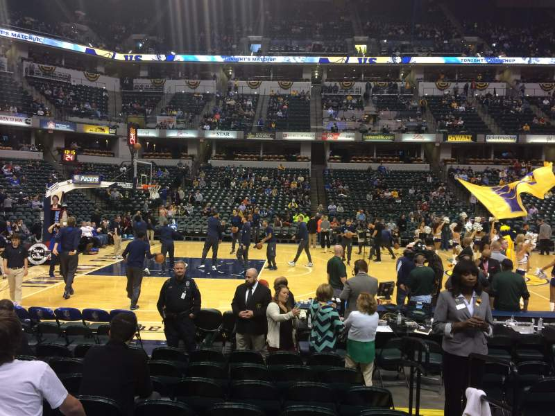 Seating view for Bankers Life Fieldhouse Section 6 Row 11 Seat 2
