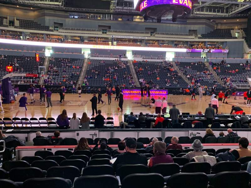 Seating view for Ford Center (Indiana) Section 106 Row K Seat 13