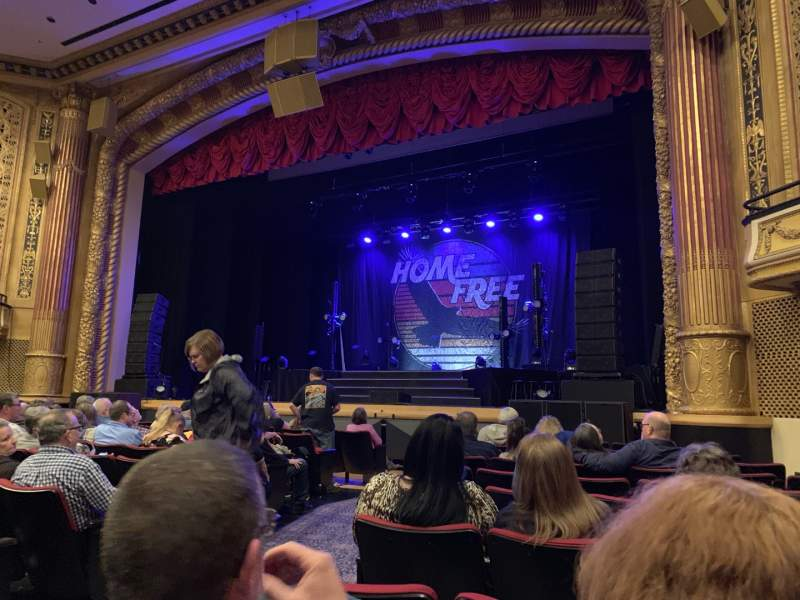 Seating view for Victory Theatre Section ORCH-R Row L Seat 4