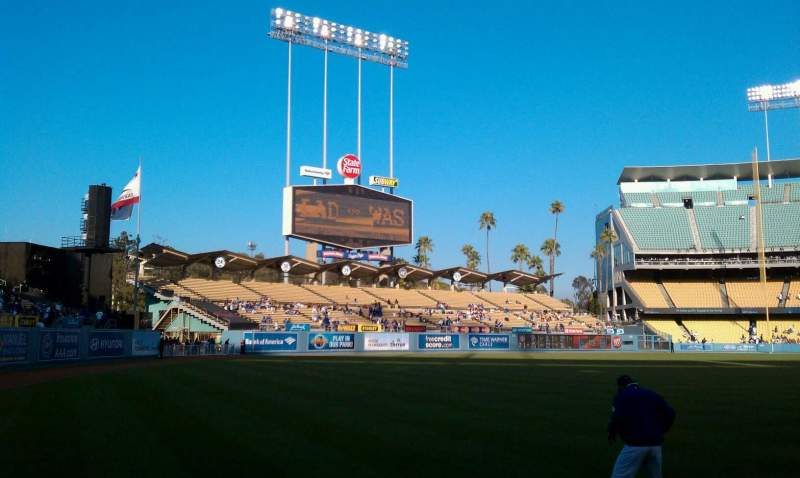 Seating view for Dodger Stadium Section 49FD Row AA Seat 1