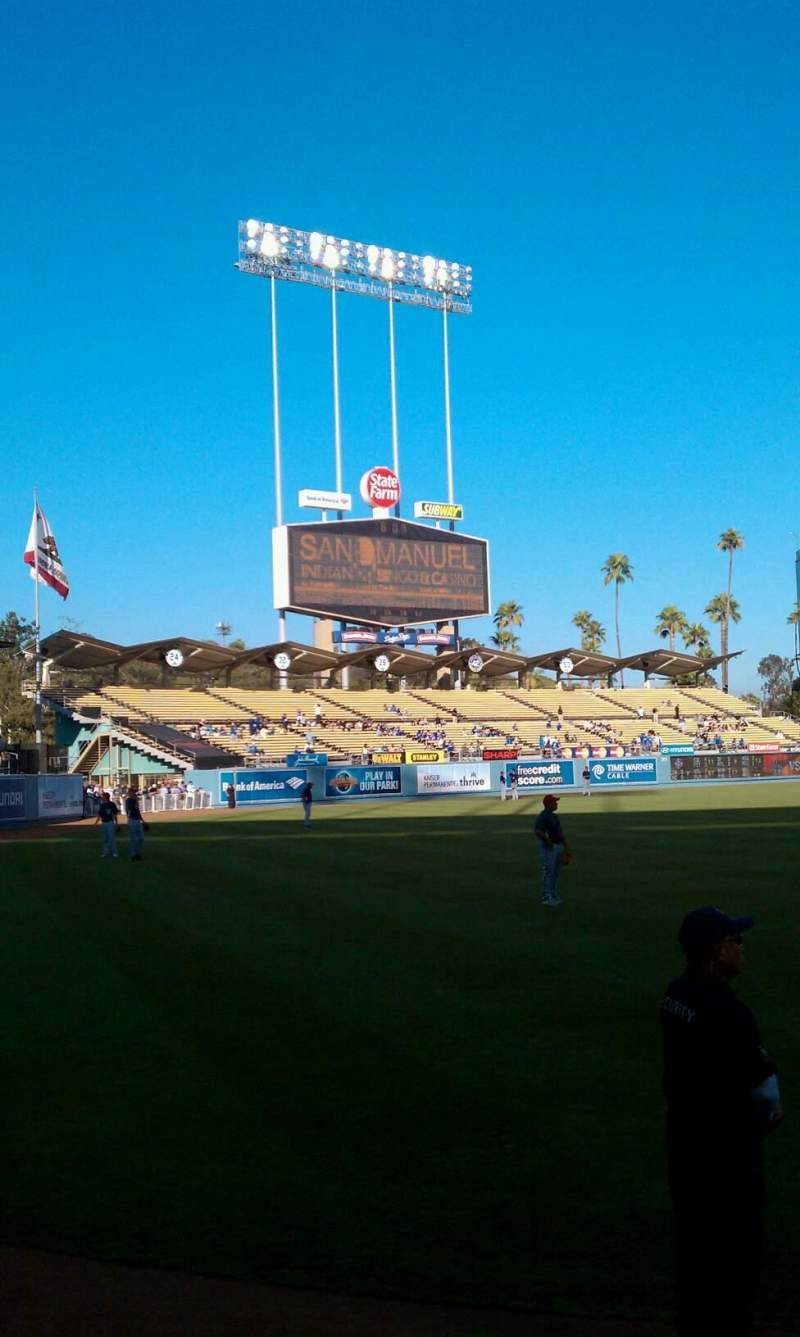 Dodger Stadium, section 49FD, row AA, seat 01 - Los Angeles Dodgers, shared by Will Sheffield