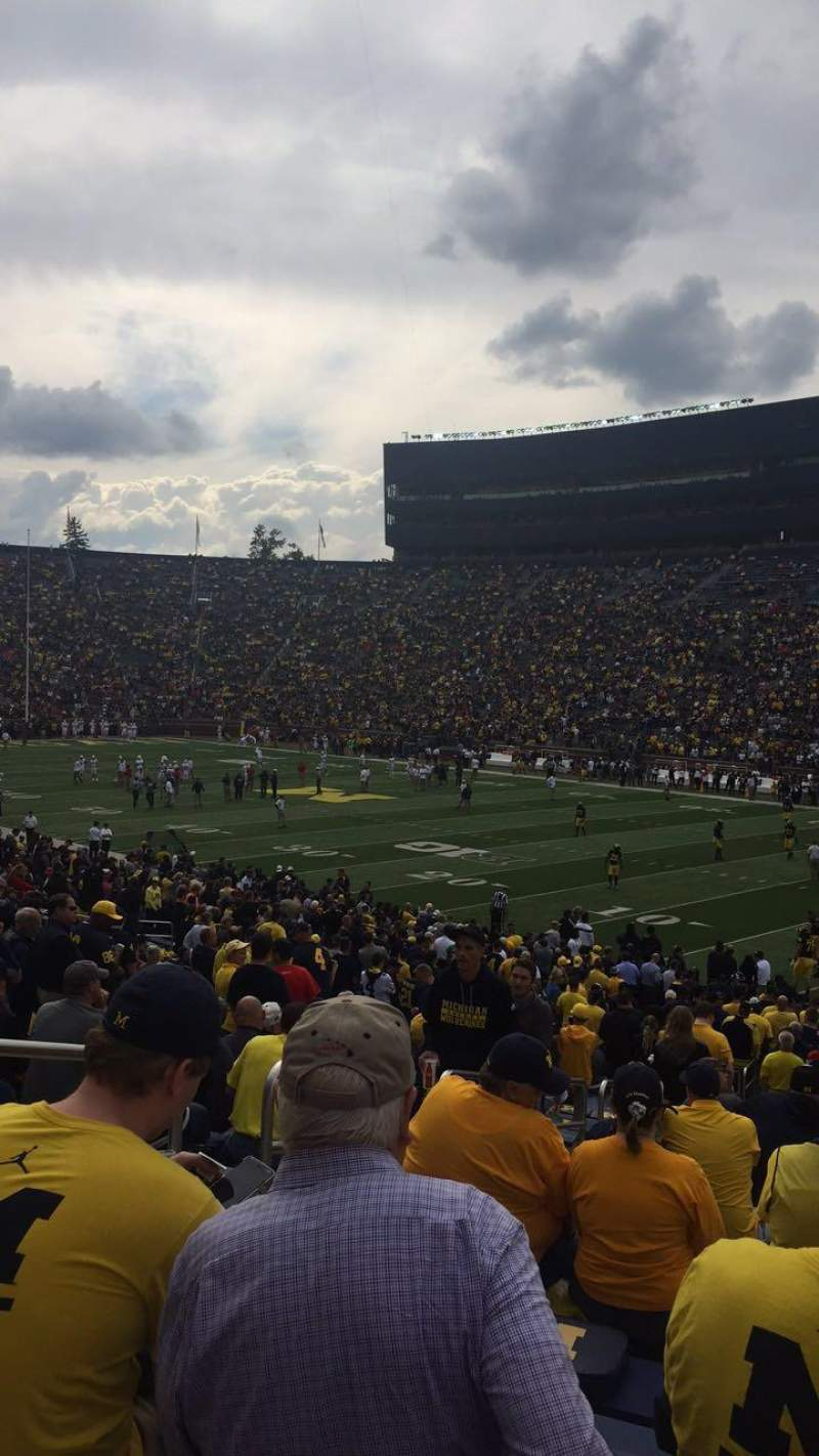 Seating view for Michigan Stadium Section 40 Row 36 Seat 14