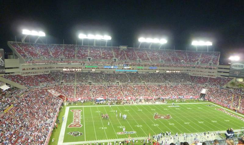 Seating view for Raymond James Stadium Section 332 Row M Seat 8