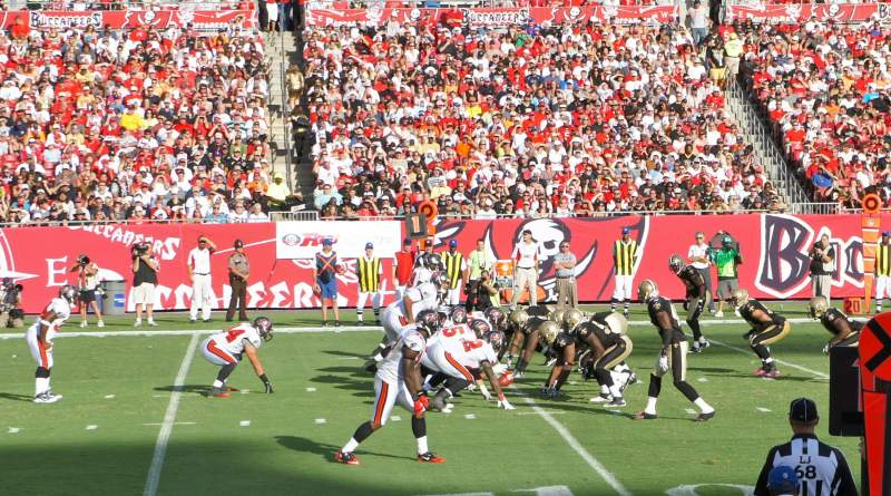 Seating view for Raymond James Stadium Section 107 Row G Seat 22