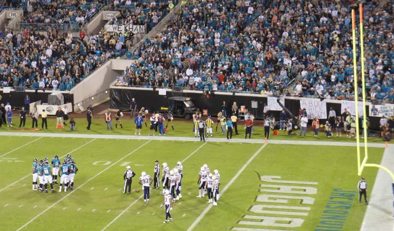 Seating view for Everbank Field Section 231
