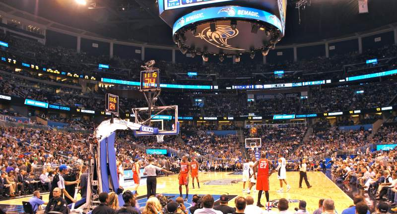 Seating view for Amway Center Section 118 Row 3 Seat 5