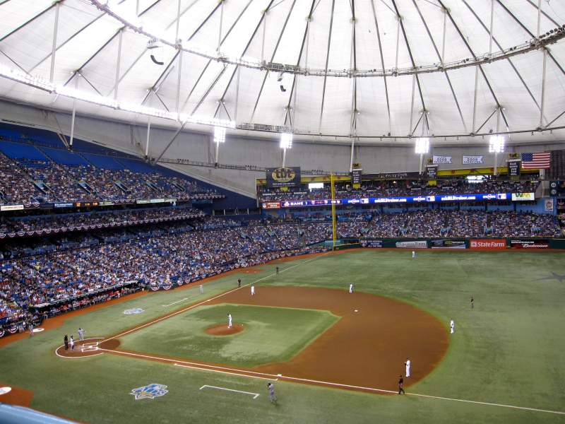 Seating view for Tropicana Field Section 316 Row 1 Seat 5