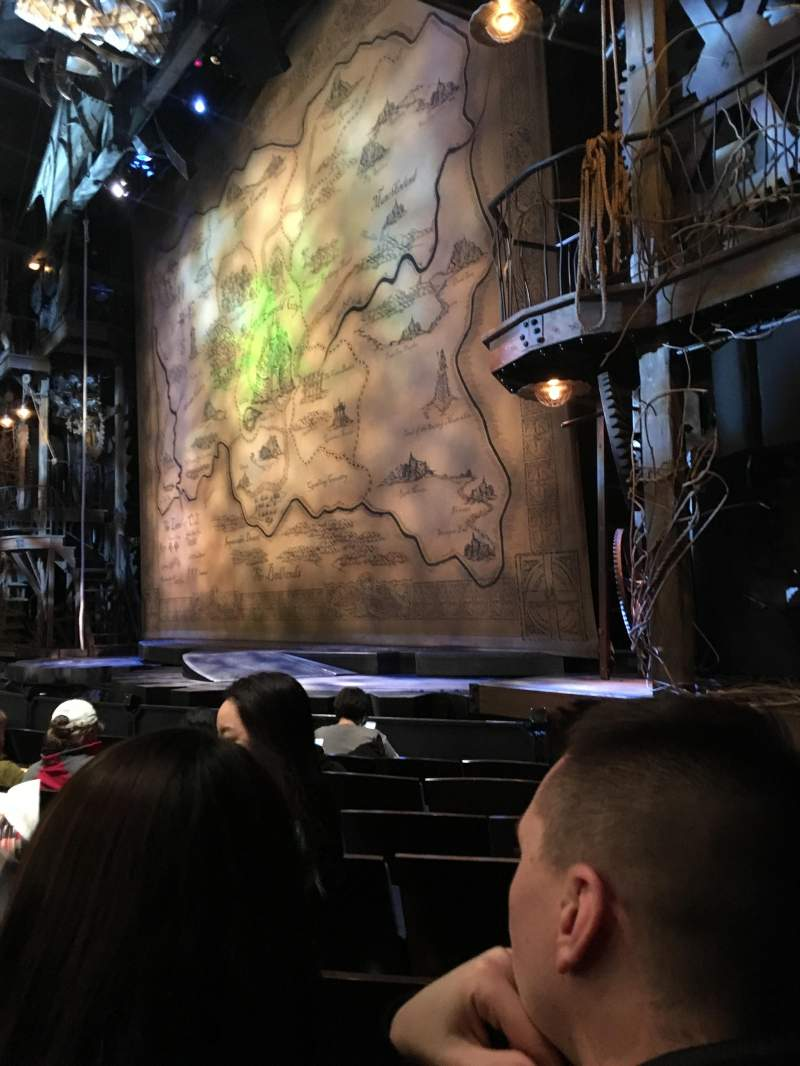 Seating view for Gershwin Theatre Section Orchestra R. Row C Seat 22