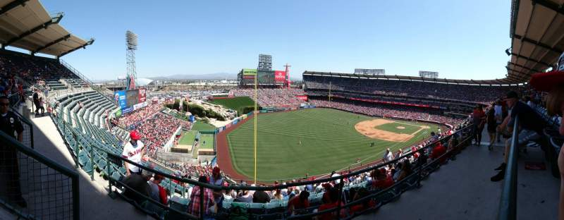 Seating view for Angel Stadium Section V507 Row A Seat 1