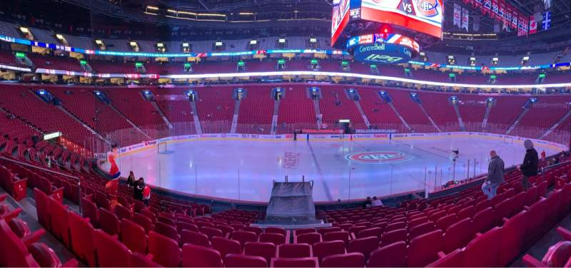 Seating view for Centre Bell Section 114 Row H