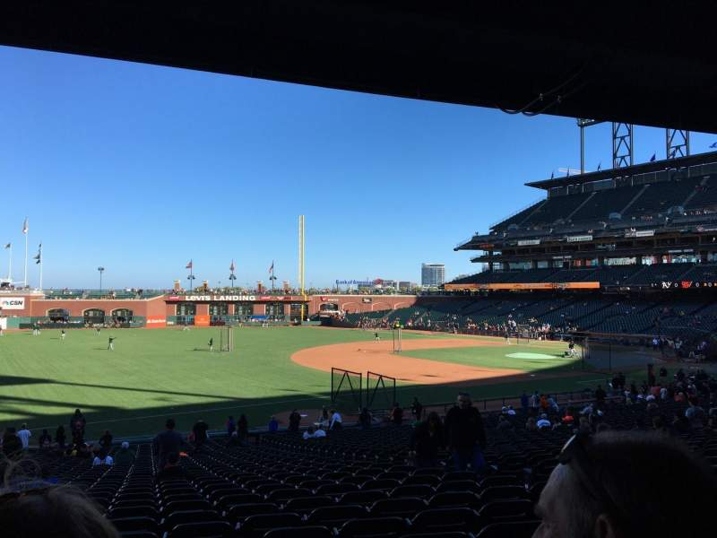 Seating view for AT&T Park Section 128 Row 35 Seat 8